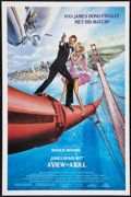 """Movie Posters:James Bond, A View to a Kill (United Artists, 1985). One Sheet (27"""" X 41"""")Style B. James Bond.. ..."""
