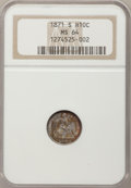 Seated Half Dimes: , 1871-S H10C MS64 NGC. NGC Census: (32/17). PCGS Population (25/8).Mintage: 161,000. Numismedia Wsl. Price for problem free...