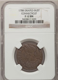 Colonials, 1788 COPPER Connecticut Copper, Draped Bust Left Fine 12 NGC. M.16.4-L.2, W-4620, High R.5....