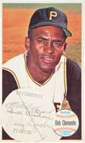 Baseball Collectibles:Others, 1964 Topps Super Roberto Clemente Multi Signed Card....