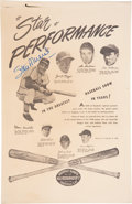 "Baseball Collectibles:Others, Stan Musial Signed ""Louisville Slugger"" Advertising Broadside...."