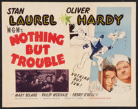 """Nothing But Trouble (MGM, 1945). Half Sheet (22"""" X 28"""") Style A. Comedy"""
