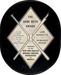 Baseball Collectibles:Others, 1957 World Series MVP Award Presented to Lew Burdette....