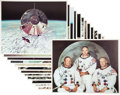 Explorers:Space Exploration, Apollo 11 Large, Heavy Stock Color Lithographs.... (Total: 13Items)