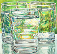 JANET I. FISH (American, b. 1938) Skowhegan Water Glasses, 1975 Oil on canvas 40 x 42 inches (101
