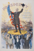 "Political:Posters & Broadsides (1896-present), William McKinley: Perhaps the Most Sought After of All ColorPolitical Lithography from this ""Golden Era"". ..."