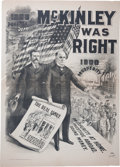 """Political:Posters & Broadsides (1896-present), McKinley & Roosevelt: A Spectacular 48"""" x 36"""" Jugate Campaign Poster. ..."""