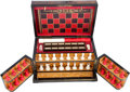 Miscellaneous:Gaming Collectibles, Very Fine Victorian Game Chest with Ivory Components....