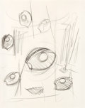 Post-War & Contemporary:Contemporary, CLAES OLDENBURG (American, b. 1929). Studies for a Sculpture inthe Form of a Standing Mitt, circa 1975. Pencil on paper...