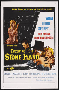 "Curse of the Stone Hand (A.D.P. Pictures, 1964). One Sheet (27"" X 41""). Horror"