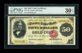 Large Size:Gold Certificates, Fr. 1197 $50 1882 Gold Certificate PMG Very Fine 30 EPQ....