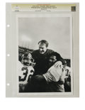 Football Collectibles:Photos, 1975 Super Bowl IX Photograph. From the archive of photographer Ken Regan we offer this classic print which shows a trio of...