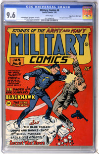 Military Comics #6 Mile High pedigree (Quality, 1942) CGC NM+ 9.6 White pages