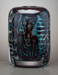 Decorative Arts, Continental:Other , A SWEDISH STUDIO GLASS VASE . Edvin Ührström for OrreforsGlassworks, Orrefors, Sweden, circa 1950. Marks: ORREFORS,Swede...