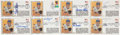 Baseball Collectibles:Others, Baseball Hall of Famers Signed Jackie Robinson First Day Covers Lot of 8....