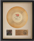 Music Memorabilia:Awards, Derek and the Dominos In Concert RIAA Gold Album Award....