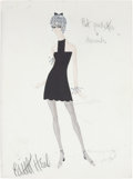 Movie/TV Memorabilia:Original Art, Edith Head Sweet Charity Costume Design Sketch....