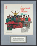 Music Memorabilia:Posters, Phil Spector's A Christmas Gift for You from Philles Records Album Slick....