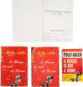 Movie/TV Memorabilia:Autographs and Signed Items, Polly Adler Autographed Birthday Card and Books.... (Total: 4 )
