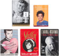 Movie/TV Memorabilia:Autographs and Signed Items, Tab Hunter and Others Celebrity-Signed Autobiographies.... (Total: 5 )