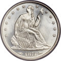 Seated Half Dollars, 1874 50C Arrows MS66 PCGS. CAC....