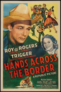 "Movie Posters:Western, Hands Across the Border (Republic, 1944). One Sheet (27"" X 41"").Western.. ..."