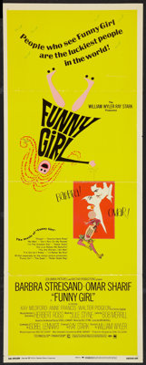 "Funny Girl (Columbia, 1968). Insert (14"" X 36""). Musical"