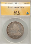 Early Half Dollars, 1806/5 50C --Scratched--ANACS. GD4 Details. O-102. NGC Census:(0/614). PCGS Population (1/176). Numismedia Wsl. Price for ...