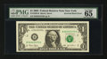 Error Notes:Inverted Reverses, Fr. 1928-B $1 2003 Federal Reserve Note. PMG Gem Uncirculated 65EPQ.. ...