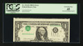 Error Notes:Inverted Third Printings, Fr. 1914-B $1 1988 Federal Reserve Note. PCGS Extremely Fine 45.....