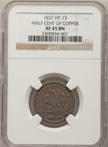 Hard Times Tokens, 1837 Half Cent of Copper XF45 NGC. Low-49, HT-73, R.2....
