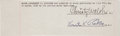 Football Collectibles:Others, 1928 Knute Rockne & Christy Walsh Signed Cut Document....