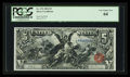 Large Size:Silver Certificates, Fr. 270 $5 1896 Silver Certificate PCGS Very Choice New 64.. ...