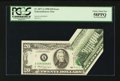 Error Notes:Foldovers, Fr. 2077-A $20 1990 Federal Reserve Note. PCGS Choice About New58PPQ.. ...