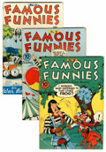 Golden Age (1938-1955):Miscellaneous, Famous Funnies File Copy Group (Eastern Color, 1942-46) Condition: Average FN.... (Total: 6 Comic Books)