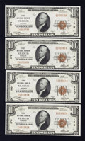 National Bank Notes:Missouri, Saint Louis, MO - $10 1929 Ty. 1 The Third NB Ch. # 170 FourExamples. ... (Total: 4 notes)