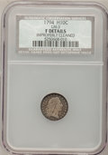 Early Half Dimes, 1794 H10C --Improperly Cleaned--NCS. Fine Details. V-3, LM-3,R.4....