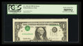 Error Notes:Inverted Third Printings, Fr. 1921-D $1 1995 Federal Reserve Note. PCGS Choice About New58PPQ.. ...