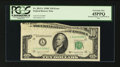 Error Notes:Foldovers, Fr. 2013-L $10 1950C Federal Reserve Note. PCGS Extremely Fine45PPQ.. ...
