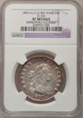 Early Half Dollars, 1803 50C Large 3--Improperly Cleaned--NGC Details. XF. O-103,R.3....
