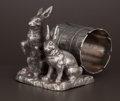 Silver Holloware, American:Napkin Rings, AN AMERICAN SILVER PLATE FIGURAL NAPKIN RING . Attributed toPairpoint Mfg. Co., New Bedford, Massachusetts, circa 1875. Mar...
