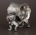Silver Holloware, American:Napkin Rings, AN AMERICAN SILVER PLATE FIGURAL NAPKIN RING . Unknown maker,American, circa 1875. Unmarked. 2-3/4 inches high (7.0 cm). 5....