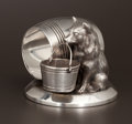Silver Holloware, American:Napkin Rings, AN AMERICAN SILVER PLATE FIGURAL NAPKIN RING . James W. Tufts,Boston, Massachusetts, circa 1875. Marks: JAMES W. TUFTS,B...