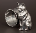 Silver Holloware, American:Napkin Rings, AN AMERICAN SILVER PLATE FIGURAL NAPKIN RING . Attributed to ForbesSilver Co., Meriden, Connecticut, circa 1875. Unmarked. ...