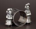 Silver Holloware, American:Napkin Rings, AN AMERICAN SILVER PLATE FIGURAL NAPKIN RING . Attributed toSimpson, Hall, Miller & Co., Wallingford, Connecticut, circa18...