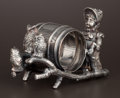 Silver Holloware, American:Napkin Rings, AN AMERICAN SILVER PLATE FIGURAL NAPKIN RING . Unknown maker,American, circa 1875. Marks: 380. 2-1/2 inches high (6.4c...