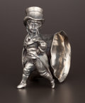 Silver Holloware, American:Napkin Rings, AN AMERICAN SILVER PLATE FIGURAL NAPKIN RING . Attributed toBarbour Silver Co., Hartford, Connecticut, circa 1880. Unmarked...