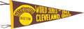 Baseball Collectibles:Others, 1948 World Series Souvenir Pennant....
