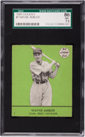 Baseball Cards:Singles (1940-1949), 1941 Goudey Wayne Ambler #7 SGC 86 NM+ 7.5 - Pop One, Highest! ...