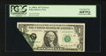 Error Notes:Foldovers, Fr. 1909-L $1 1977 Federal Reserve Note. PCGS Extremely Fine40PPQ.. ...